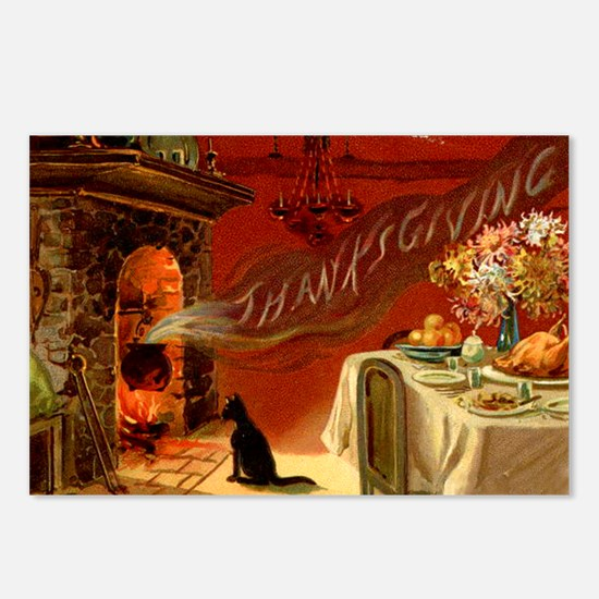 Cute Thanksgiving Postcards (Package of 8)