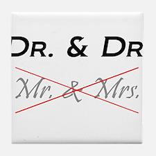 DOCTOR & DOCTOR - Not Mr. & Mrs! Tile Coaster
