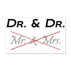 DOCTOR & DOCTOR - Not Mr. & Mrs! Wall Decal