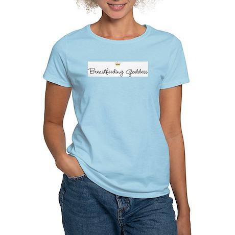 IBE Breastfeeding Goddess Women's Pink T-Shirt