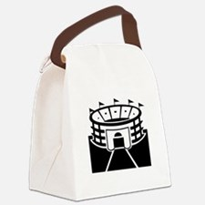 Black Stadium Canvas Lunch Bag