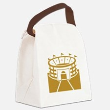 Brown Stadium Canvas Lunch Bag