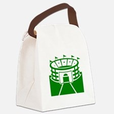 Green Stadium Canvas Lunch Bag