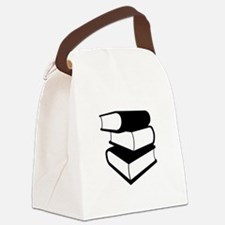 Stack Of Black Books Canvas Lunch Bag