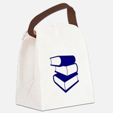 Stack Of Blue Books Canvas Lunch Bag