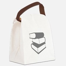 Stack Of Gray Books Canvas Lunch Bag
