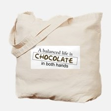 Chocolate in both hands Tote Bag