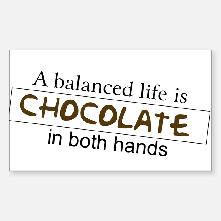 Chocolate in both hands Sticker (Rectangle)