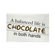 Chocolate in both hands Rectangle Magnet