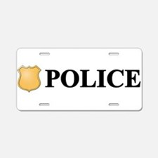 Police B.png Aluminum License Plate