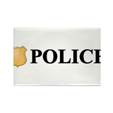 Police B.png Rectangle Magnet