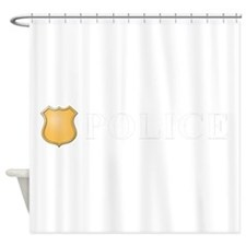 Police B W.png Shower Curtain