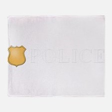 Police B W.png Throw Blanket