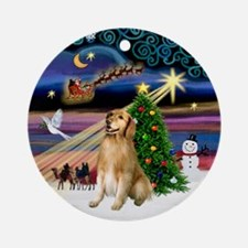 Xmas Magic & Golden (2) Ornament (Round)
