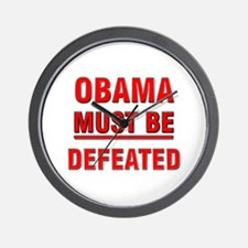 Obama Must Be Defeated Wall Clock