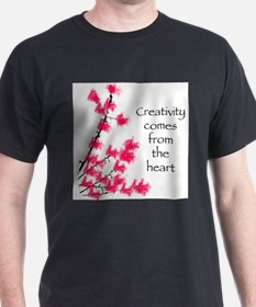 Creativity Comes From the Heart T-Shirt