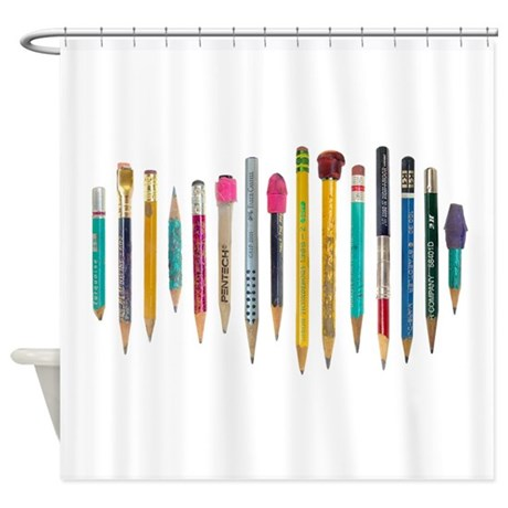 Old Favorite Pencils Shower Curtain