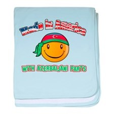 Azerbaijani Smiley Designs baby blanket