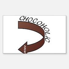 Chocoholic Sticker (Rectangle)