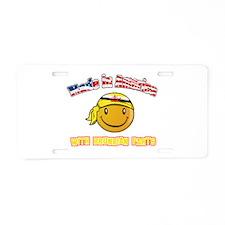 Bruneian Smiley Designs Aluminum License Plate