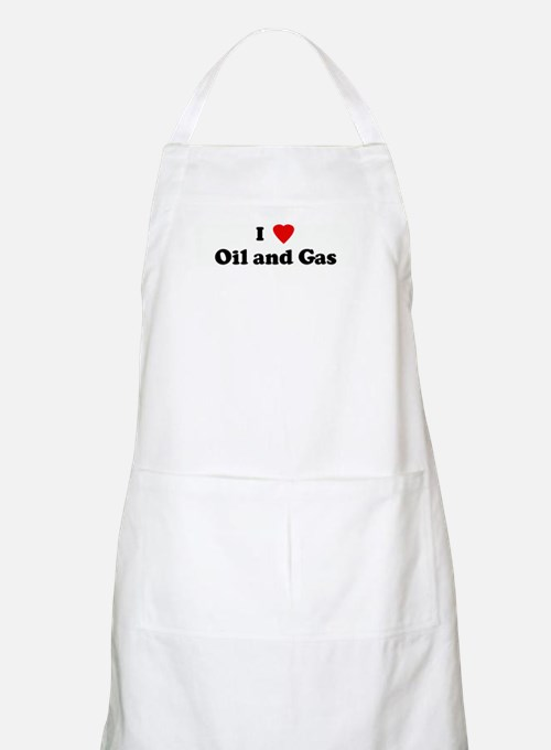 I Love Oil and Gas BBQ Apron