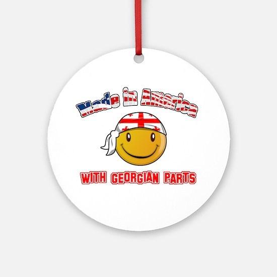 Georgian Smiley Designs Ornament (Round)