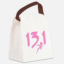 Pink 13.1 half-marathon Canvas Lunch Bag