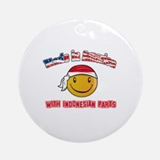 Indonesian Smiley Designs Ornament (Round)