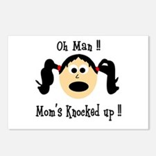 Mom's knocked up Postcards (Package of 8)