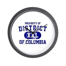 Property of District Of Columbia Wall Clock