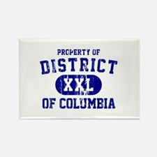 Property of District Of Columbia Rectangle Magnet