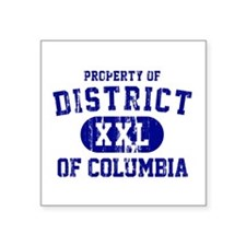 """Property of District Of Columbia Square Sticker 3"""""""