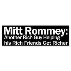Mitt Romney: Another Rich Guy Bumper Bumper Sticker