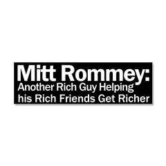 Mitt Romney: Another Rich Guy Car Magnet 10 x 3