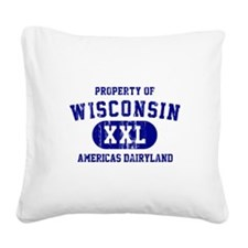 Property of Wisconsin Square Canvas Pillow