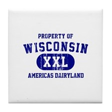 Property of Wisconsin Tile Coaster
