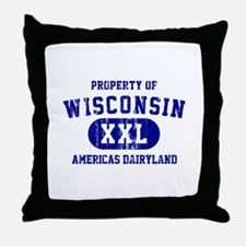 Property of Wisconsin Throw Pillow