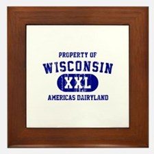Property of Wisconsin Framed Tile
