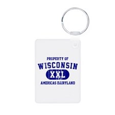 Property of Wisconsin Keychains