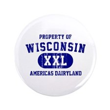 """Property of Wisconsin 3.5"""" Button"""