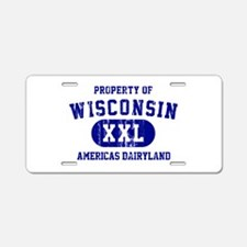 Property of Wisconsin Aluminum License Plate