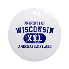 Property of Wisconsin Ornament (Round)