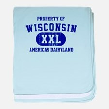 Property of Wisconsin baby blanket