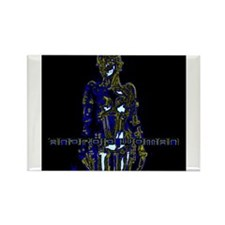 Android Woman - EONS AGO - Blue Rectangle Magnet