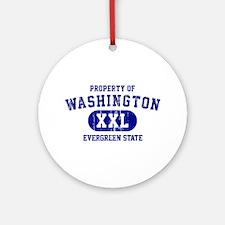 Property of Washington the Evergreen State Ornamen