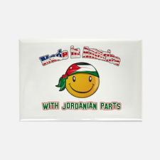 Jordanian Smiley Designs Rectangle Magnet