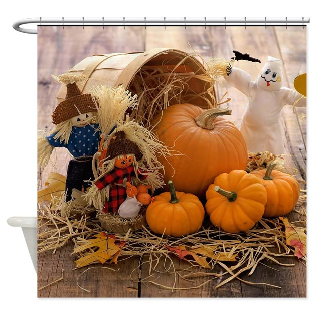 Fall Season Shower Curtain By TheCafeMarket