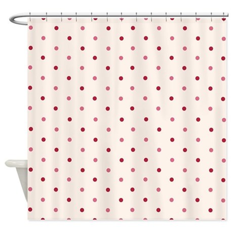 Pink Dots Shower Curtain