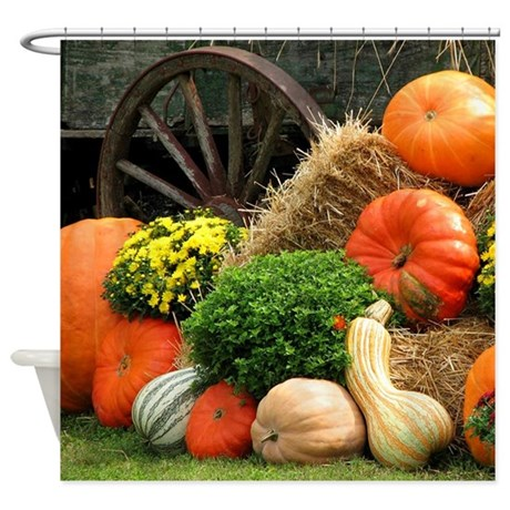 Pumpkins Fall Themed Shower Curtain By Thecafemarket