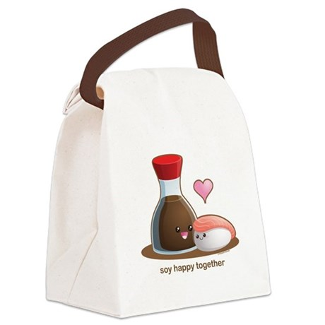 Soy happy together Canvas Lunch Bag